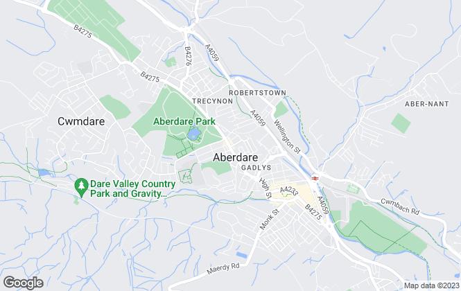 Map for Penhill Jones Property, Aberdare