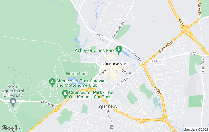 Map for CBSlade, Cirencester