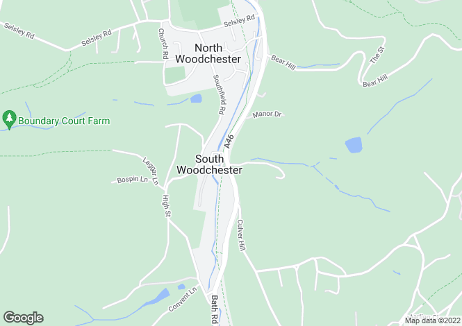 Map for Bath Road, Woodchester, Stroud, Gloucestershire, GL5
