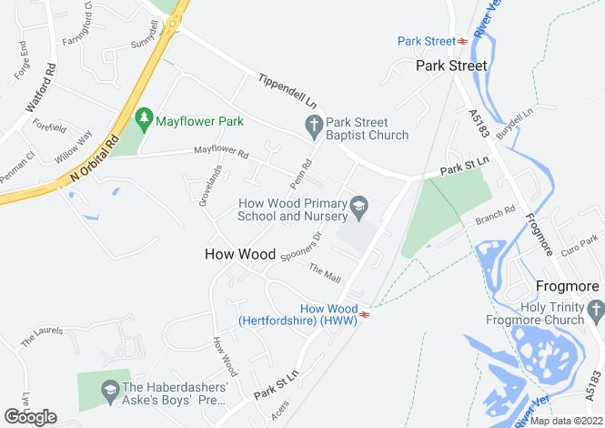 Map for Jakes View, Penn Road, St. Albans, Hertfordshire, AL2