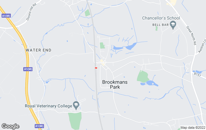 Map for Duncan Perry Estate Agents, Brookmans Park