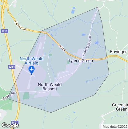 Map of property in North Weald Bassett