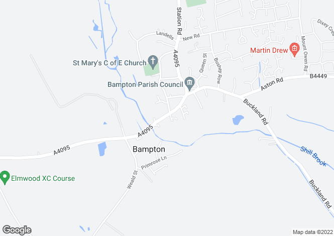 Map for Bridge Street Bampton