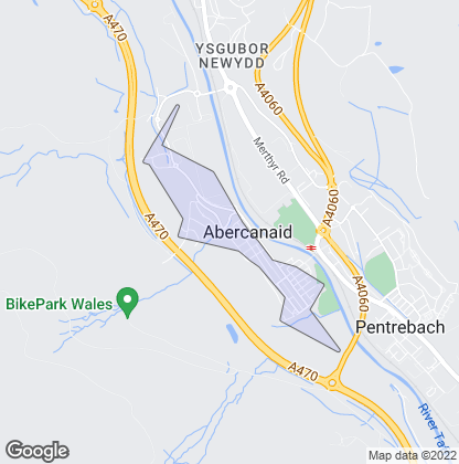 Map of property in Abercanaid