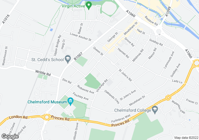 Map for Braemar Avenue, CHELMSFORD, Essex