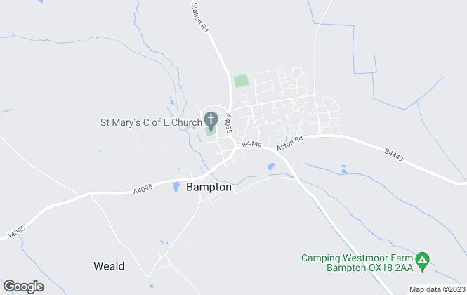 Map for Abbey Properties, Bampton