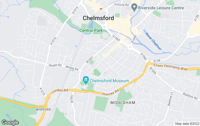 Map for Hawksley Pearce, Chelmsford