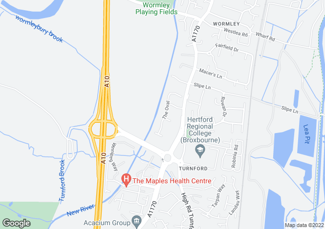 Map for TURNFORD