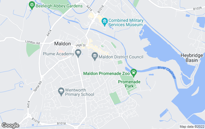 Map for Holden Estate Agents, Maldon