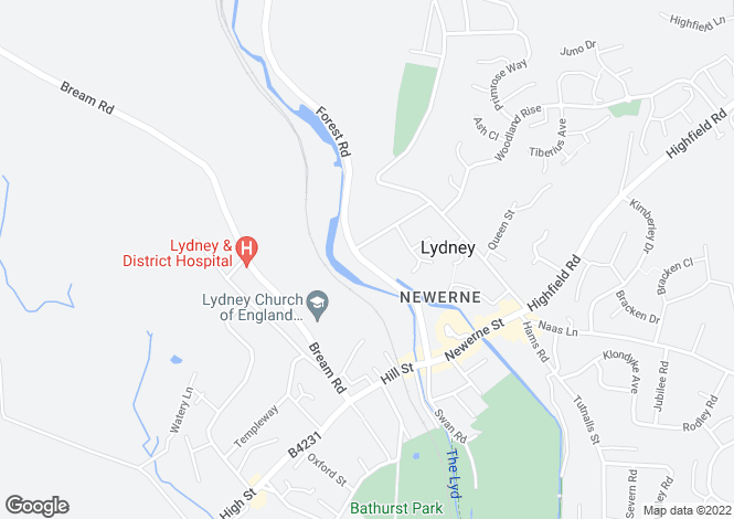 Map for Forest Road, Lydney