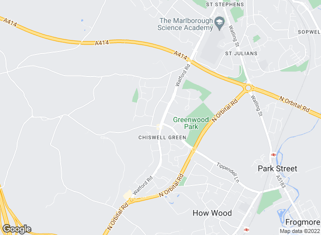 Map for Collinson Hall, Chiswell Green