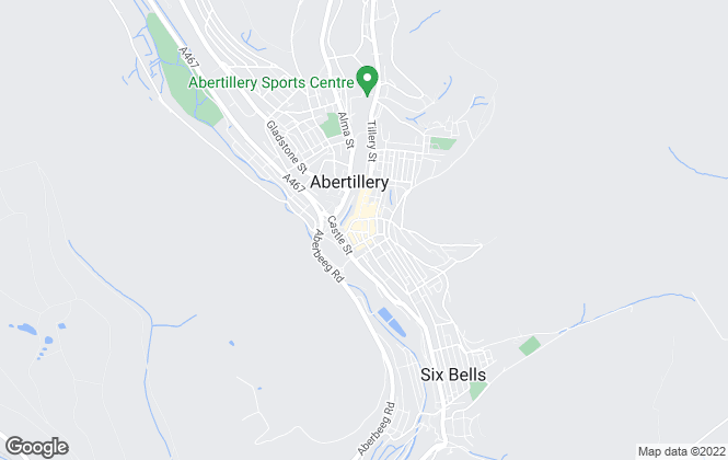 Map for Our House Estates, Abertilley