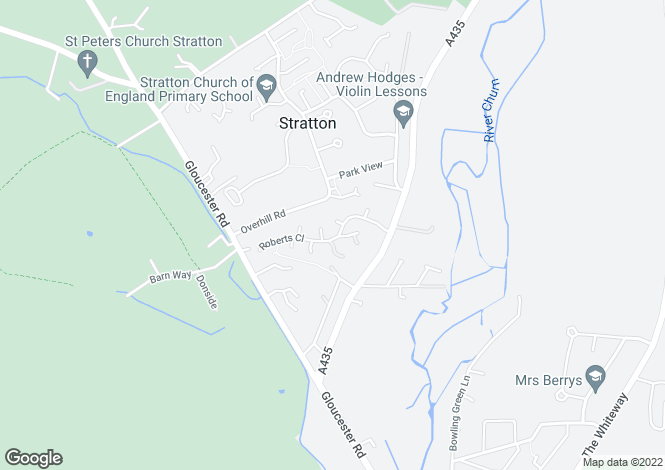 Map for Roberts Close, Cirencester