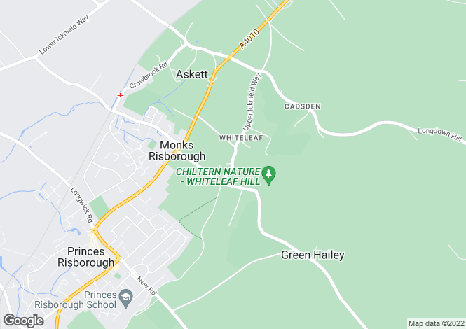 Map for Whiteleaf, Princes Risborough, Buckinghamshire, HP27