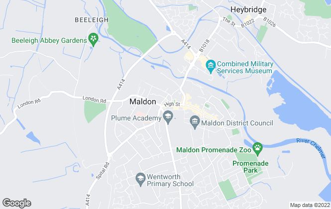 Map for Beresfords, Maldon