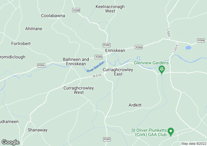 Map for Curraghcrowley, Ballineen, Co. Cork