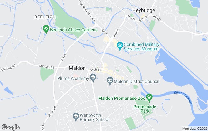 Map for Landmark, Maldon