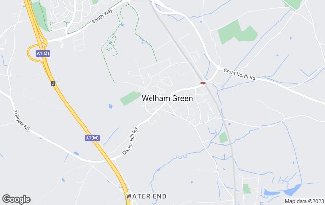 Map for Welham Estates, Welham Green