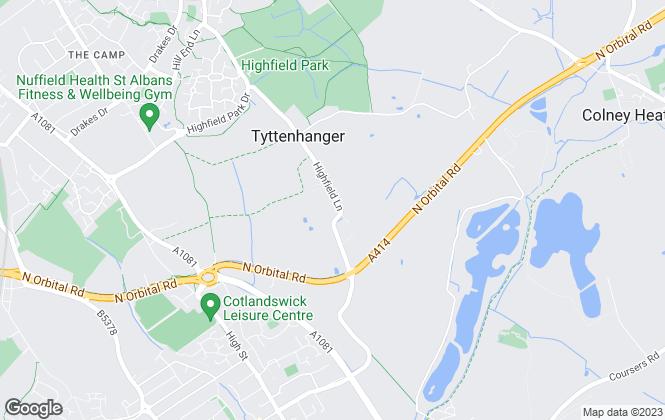 Map for North Estates, St. Albans