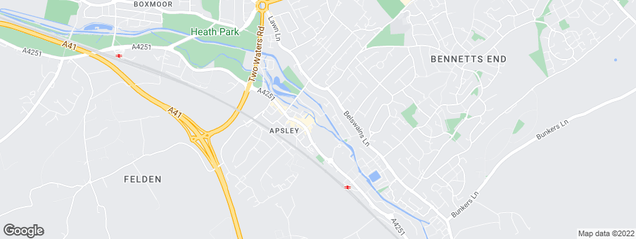 Map for Bellway Homes (North London)