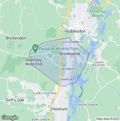 Map of property in Broxbourne