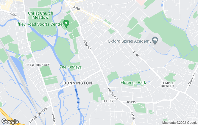 Map for Enfields Lettings, Oxford