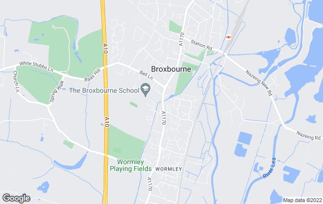 Map for William H. Brown, Broxbourne