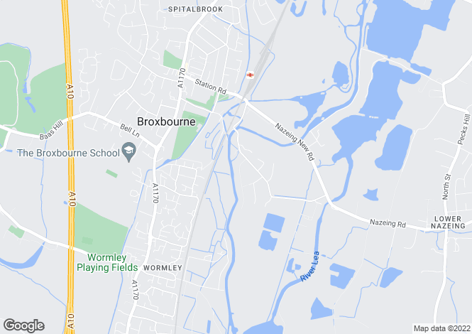 Map for Riverside Avenue, Broxbourne, Hertfordshire, EN10