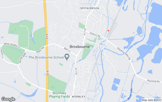 Map for Hetheringtons, Broxbourne