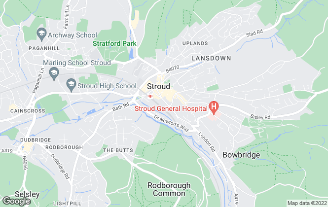Map for The Property Centre, Stroud