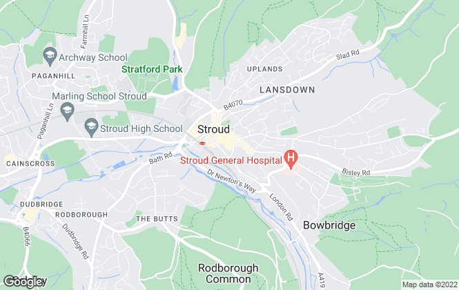Map for Simon Edmonds Chartered Surveyors, Stroud