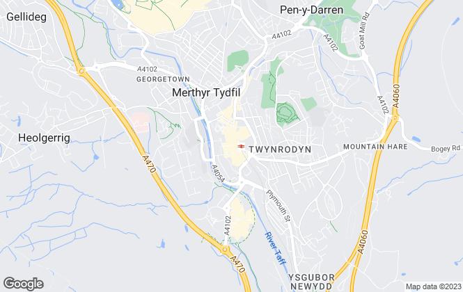 Map for Peter Alan, Methyr Tydfil - Lettings