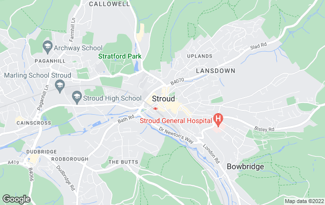 Map for Parkers Estate Agents , Stroud