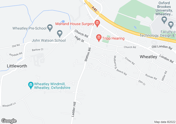Map for Kimber Close, Wheatley, Oxfordshire, OX33 1SF
