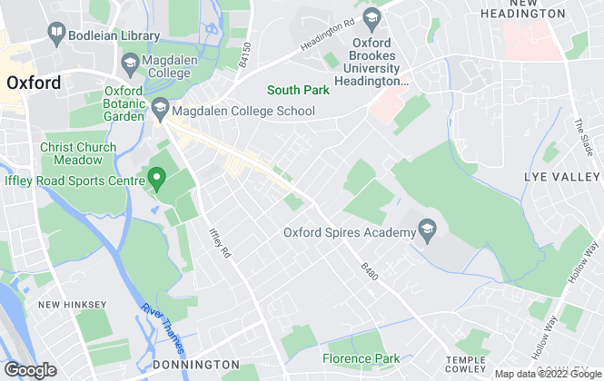 Map for JCP Estate Agents, East Oxford