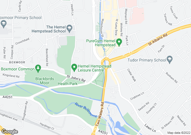 Map for Cotterells, Town Centre, Hemel Hempstead, Hertfordshire