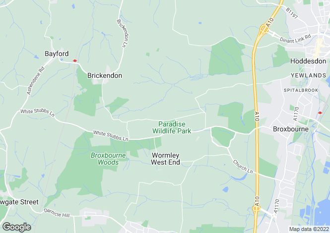 Map for Pembridge Lane, Broxbourne, Hertfordshire, EN10