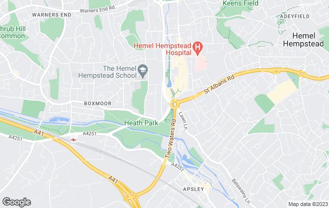 Map for Navigation Estates, Hemel Hempstead