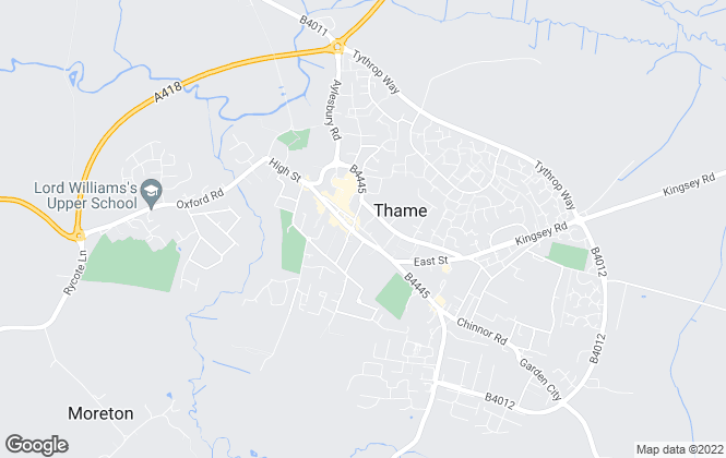 Map for Reaston Brown, Thame