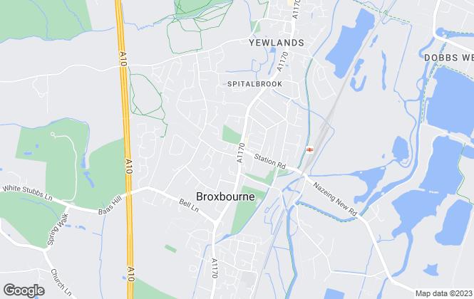 Map for Jean Hennighan Properties, Broxbourne