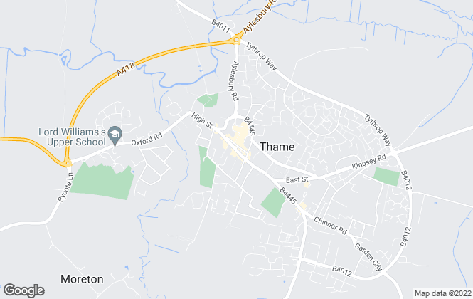 Map for Parkers Estate Agents , Thame