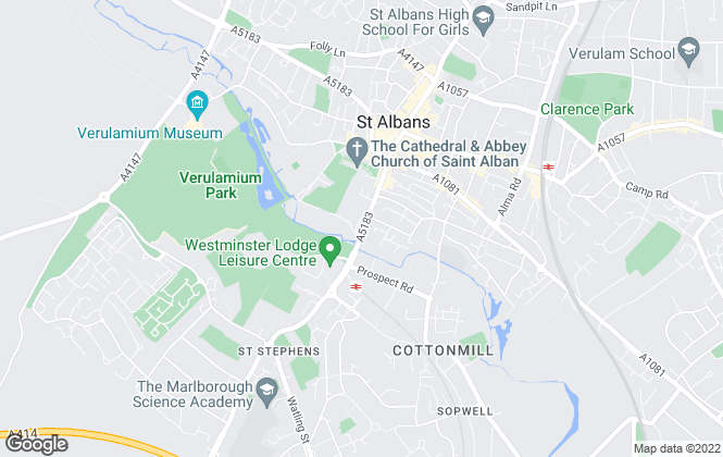 Map for Gem Lettings, St Albans