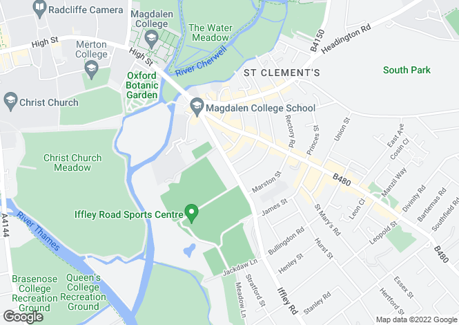 Map for Iffley Road, East Oxford