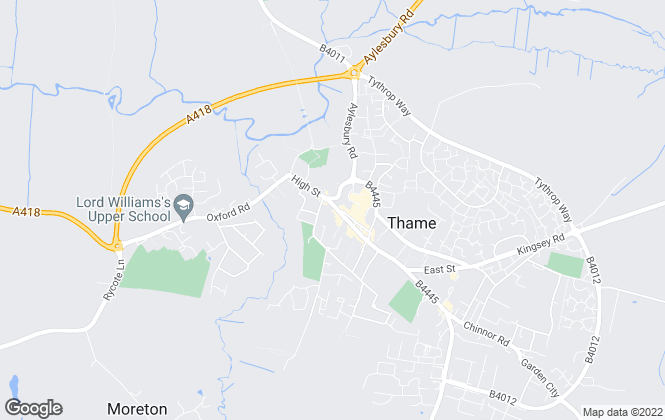Map for Pike Smith & Kemp, Thame