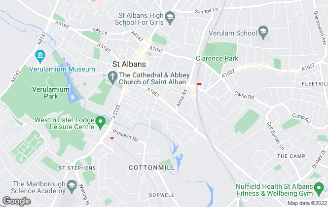 Map for KDW Property, St. Albans