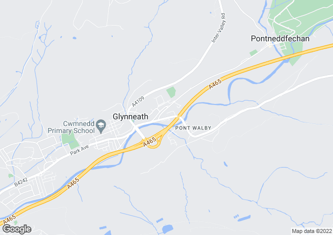 Map for 16 Aberdare Road, Glynneath, Neath, West Glamorgan
