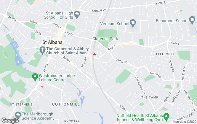 Map for Putterills, St. Albans Lettings