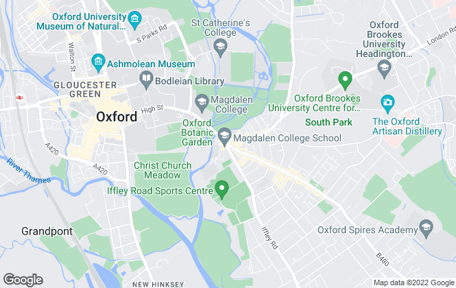 Map for Penny & Sinclair, Oxford