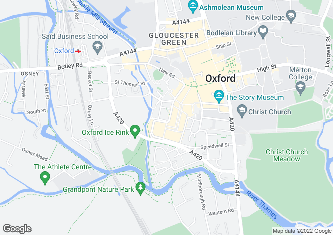 Map for Oxford City Centre
