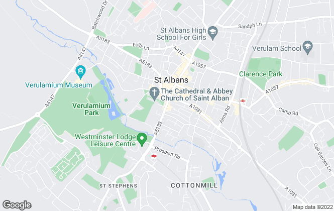 Map for Louise Saunders, St Albans